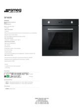 Product informatie SMEG oven inbouw zwart SF485N