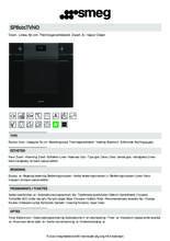Product informatie SMEG oven inbouw zwart SF6101TVNO