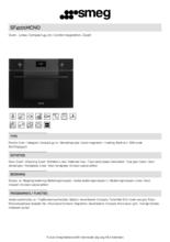 Product informatie SMEG oven met magnetron inbouw SF4101MCNO