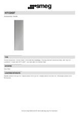 Product informatie SMEG schachtdeel verlengd KITCEKBT