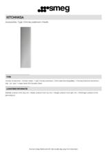 Product informatie SMEG schachtdeel verlengd KITCMNKSA