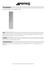 Product informatie SMEG schachtdeel verlengd KITCMNSSKV