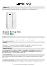 Product informatie SMEG side-by-side koelkast wit FQ60BDF
