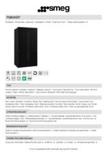 Product informatie SMEG side-by-side koelkast zwart FQ60NDF