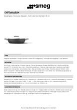 Product informatie SMEG smoorpan mat-zwart CKFD2811BLM