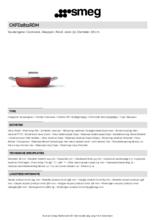 Product informatie SMEG smoorpan rood CKFD2811RDM