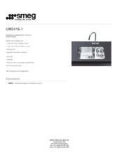 Product informatie SMEG spoelbak onderbouw UM3416/1