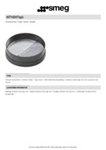 Product informatie SMEG terugslagklep KITVENT150