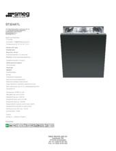 Product informatie SMEG vaatwasser inbouw ST324ATL