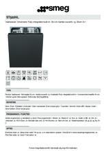 Product informatie SMEG vaatwasser inbouw ST522NL