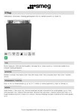 Product informatie SMEG vaatwasser inbouw ST649