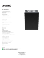 Product informatie SMEG vaatwasser inbouw STLA825A/1