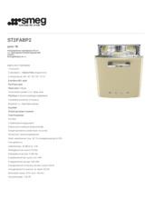 Product informatie SMEG vaatwasser onderbouw crème ST2FABP2