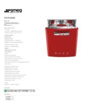 Product informatie SMEG vaatwasser onderbouw rood ST2FABR2