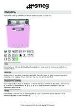 Product informatie SMEG vaatwasser onderbouw roze ST2FABPK2