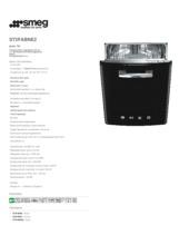 Product informatie SMEG vaatwasser onderbouw zwart ST2FABNE2
