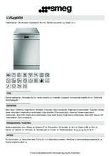 Product informatie SMEG vaatwasser vrijstaand rvs LVS432XIN