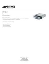 Product informatie SMEG warmhoud lade glas/rvs CT15/2