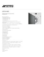 Product informatie SMEG was-droogcombinatie inbouw LSTA146S