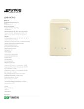 Product informatie SMEG wasmachine crème LBB14CR/2