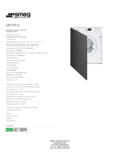 Product informatie SMEG wasmachine inbouw LST147-2