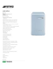 Product informatie SMEG wasmachine pastelblauw LBB14PB-2