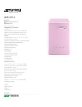 Product informatie SMEG wasmachine roze LBB14PK-2