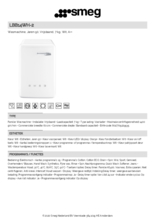 Product informatie SMEG wasmachine wit LBB14WH-2