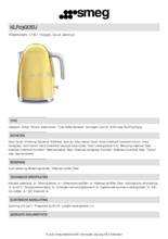 Product informatie SMEG waterkoker goud KLF03GOEU