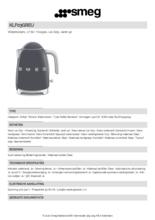 Product informatie SMEG waterkoker goud roze KLF03GREU