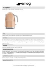 Product informatie SMEG waterkoker goud roze KLF03RGEU