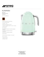 Product informatie SMEG waterkoker groen KLF04PGEU