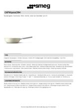 Product informatie SMEG wokpan crème CKFW3001CRM