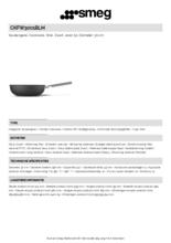 Product informatie SMEG wokpan mat-zwart CKFW3001BLM