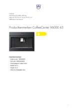 Product informatie V-ZUG koffiemachine inbouw CoffeeCenter V6000 45