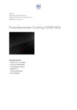 Product informatie V-ZUG kookplaat inbouw inductie CookTop V2000 60