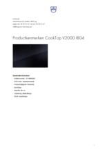 Product informatie V-ZUG kookplaat inbouw inductie CookTop V2000 80