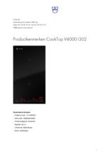 Product informatie V-ZUG kookplaat inbouw inductie CookTop V4000 30