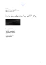 Product informatie V-ZUG kookplaat inbouw inductie CookTop V4000 90