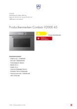 Product informatie V-ZUG oven inbouw Combair V2000 45 platinum
