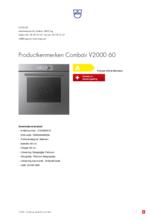 Product informatie V-ZUG oven inbouw Combair V2000 60 platinum