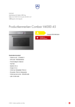 Product informatie V-ZUG oven inbouw Combair V4000 45 platinum
