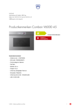 Product informatie V-ZUG oven inbouw Combair V6000 45 AutoDoor platinum