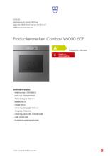 Product informatie V-ZUG oven inbouw Combair V6000 60P AutoDoor platinum
