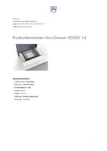 Product informatie V-ZUG vacumeerlade inbouw VacuDrawer V6000 14 volledig integreerbaar