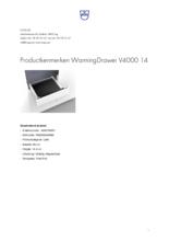 Product informatie V-ZUG warmhoudlade inbouw WarmingDrawer V6000 14 volledig integreerbaar