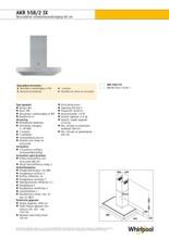 Product informatie WHIRLPOOL afzuigkap AKR558/2IX