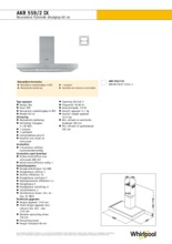 Product informatie WHIRLPOOL afzuigkap AKR559/2IX