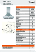 Product informatie WHIRLPOOL afzuigkap AKR563IX