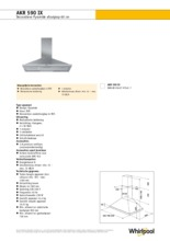 Product informatie WHIRLPOOL afzuigkap AKR590IX